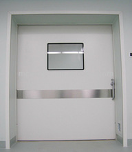 Operating room air-tight seal fireproofing automatic sliding door