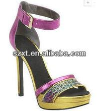 Mature mature sexy lady platform high heel sandal ankle belt women's high platforms heels sandals