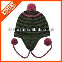 Fashion acrylic knitted pernvian hats