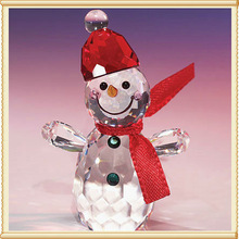 Best Choice Lovely Crystal Snowman For Merry Christmas Gifts