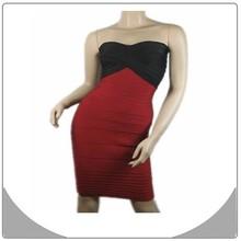 Wholesale black and wine red off shoulder bandage dress cocktail dress china online shopping