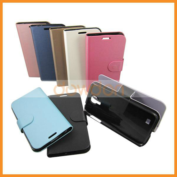 For Samsung Galaxy S4 I9500 Leather Case Cover with Stand/Holder