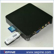 digital tv converter box with usb/sd card media player box vga out
