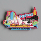 Sydney 3d soft pvc rubber custom fridge magnet for souvenir