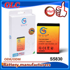 3.7V 4.2V 1350mAh Rechargeable Battery for Samsung Galaxy ACE S5830