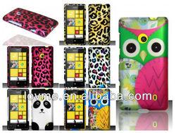 cute owl leopard animal print hard cover case for nokia lumia n520 520