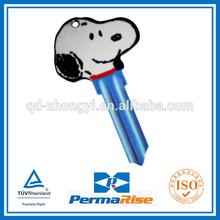 high quality hot sale custom design cartoon brass color key