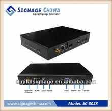 SC-8028 Digital Signage Media Player Via Built-in Wi-Fi, LAN or USB options
