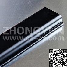 Black plastic OEM ABS profile