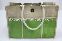 promotional jute shopping bag/pattern shopping bag