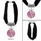 2013 pink gemstone pendant jewelry scarf