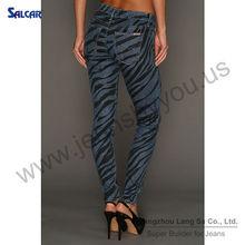 SALCAR guangzhou orient way garment co,.ltd wholesale ladies denim jeans women's soft narrow leg denim pants (LSWPF6111-2)