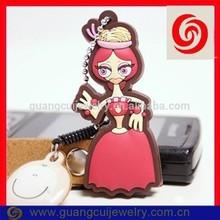 Fashion hot sale soft pvc crown keychain princess