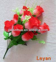 12pcs flower,cheap flower bunch,artificial flower bush