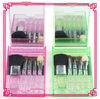 Five pcs mini cosmetic brush set with cosmetic Mirror