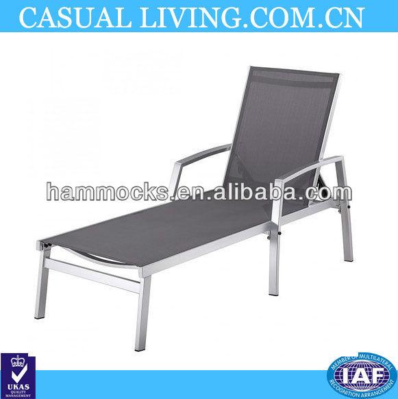 black aluminum sun lounger sunbathing deck chair deckchair