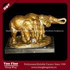 Bright Yellow Classic Modern Bronze Elephant