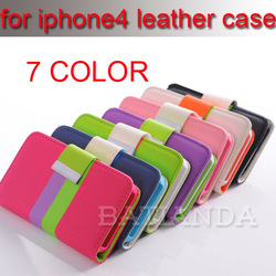 2013 hot selling wallet cases for iphone 4s case