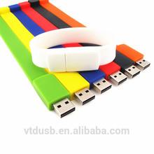 2014 summer silicon bracelet free logo USB flash drive for girls