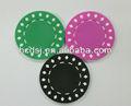 Dos- tono de estampación en caliente de fichas de póquer, recuerdo de fichas de póquer, personalizado de plástico papasfritas