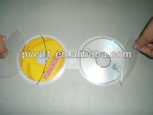 super clear pvc CD case with zipper