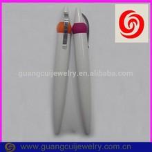 fashion cute fat white plastic ball writing pen