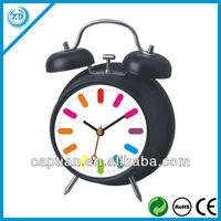 Metal twin bells Desktop clock with design