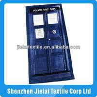 Doctor Who TARDIS towel beach look like the front-door can be custom