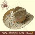 2013 mens venda quente de papel de palha chapéu de cowboy