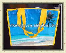 lamination handle pp woven shopper bag