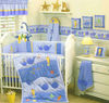 10 pcs patchwork and applique baby crib bedding set