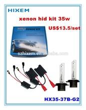 xenon hid kit slim H1, H3, H4, H7, H8, H9, H10, 9005(HB3), 9006(HB4), 9007 12V 35W