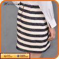 El último diseño de rayas vestido Pictures de faldas formales cortos