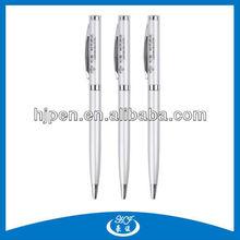 Silver Hotel Twist Metal Ball Pen With Logo Souvenir Pen
