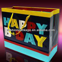 Popular Shopping Paper Bag for Birthday Theme with 3D