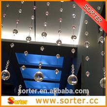 halloween / wedding decoration ideas earth beaded crystal / wedding stage decoration crystal bead chain