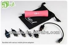 2013 Newest 2600mAh Portable Mini USB External Mobile Power Bank Emergency Rechargable Battery Case for Smartphones