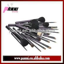 NOW!!24pcs Professional Makeup Brush Set Beauty Kit Cosmetic Snakeskin Pattern PU Leather Carrying Case (Purple)