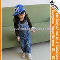 Fotos de calças jeans menina 100% algodão denim jeans ad crianças macacao( hyk45)
