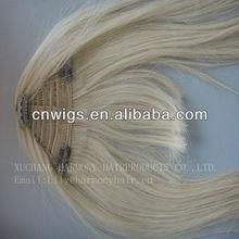 hair wig with side swept bangs/human hair wig with bang/clip-on human hair bang