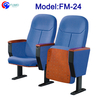 FM-24 Modern design fabric folding auditorium chairs with writing pad