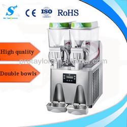 Double bowls commerical slush machine