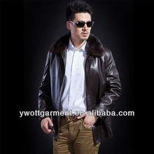 2014 winter newest leather down jacket,high quality mink fur coat for men genuine leather jacket