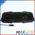 Latest Multimedia Waterproof Changeable Color LED Light Ergonomic standing usb computer keyboard
