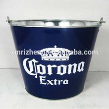 Corona 5L Galvanized metal beer ice bucket