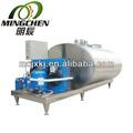 Horizontal de la leche del tanque de enfriamiento, planta procesadora de lácteos, enfriador de leche
