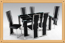 Modern glass dining table/ cheap dining table set on sales
