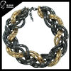 2014 china factory new design bead jewelry fashion statement necklace .gold plating pendant chain necklace
