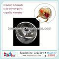 Beadsnice id. 28602 zakka bijoux à la mode ronde en verre dôme transparent pour le verre creux anneau 24mm bulle de verre