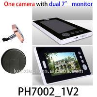 hot sell 7inch digital door peephole viewer,digital peephole viewer wireless